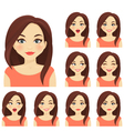 Woman expression set vector image vector image