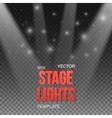 Transparent Studio Stage Light Effect vector image