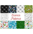 Science seamless pattern backgrounds vector image