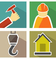 set construction icons vector image