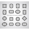 Set of vintage frames and design elements - vector image