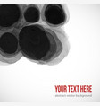 abstract black ink wash painting on white vector image vector image