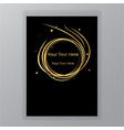 abstract golden black circle luxury elegant vector image vector image