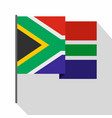 african flag icon flat style vector image vector image