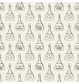 Alchemy seamless pattern with bottles vector image