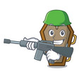 army coffin character cartoon style vector image
