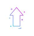 arrow up direction icon design vector image vector image