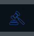 auction hammer icon law judge gavel symbol vector image vector image