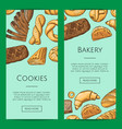 banner or shop flyer templates with hand vector image