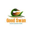 beautiful swan logo designs simple modern vector image