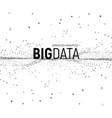 big data from dots vector image