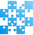 blue puzzle pieces - jigsaw - field for chess vector image vector image