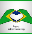 brazil independence day background vector image vector image