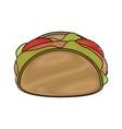 burrito delicious food vector image