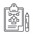 business planpencilclipboard line icon vector image
