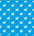 cart shop pattern seamless blue vector image