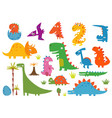 cartoon funny dinosaurs vector image