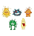 Cartoon monsters and demons set vector image