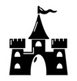 castle building icon simple style vector image vector image