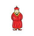 Chinese Asian Man Wearing Robe Cartoon