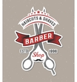 Color Barber Scissors Poster vector image