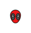 comic superhero mask vector image vector image