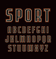 contour sanserif font in sport style vector image vector image