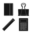 design of office and supply sign set of vector image