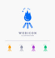fire flame bonfire camping camp 5 color glyph web vector image