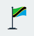 flag of tanzaniaflag stand vector image vector image