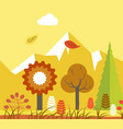 forest in autumn vector image vector image