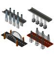 four different bridge designs vector image