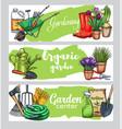 gardening banners vector image vector image