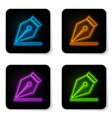 glowing neon fountain pen nib icon isolated on vector image