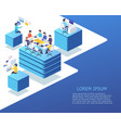 group business people working using digital vector image vector image