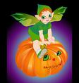 halloween pixie vector image vector image