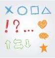 Hand drawn symbols vector image vector image