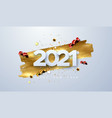 happy new 2021 year vector image vector image