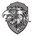 head eagle head black and white logo usa america vector image vector image