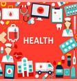 health paper template vector image vector image