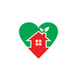home eco leaf logo vector image vector image