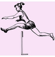 hurdler in a jump vector image vector image