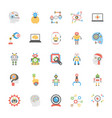 icons pack of artificial intelligence in flat desi vector image
