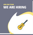 join our team busienss company guitar we are vector image vector image