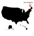 map of the us state of new hampshire vector image vector image