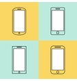 Mobile phone icons set Smartphone design template vector image vector image