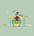 musician play drums videostream music festival vector image vector image
