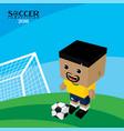 national team soccer tournament 2018 vector image