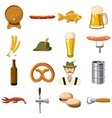 Oktoberfest icons set in cartoon style vector image vector image