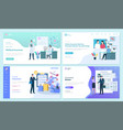 online insurance and service website pages set vector image vector image